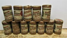 LOT #2 OF 12 ASSORTED THOMAS EDISON GOLD MOULDED RECORDS IN COVERED CASES