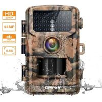 Campark Game Trail Hunting Cameras 14MP 1080P Wildlife Scouting Cam Night Vision