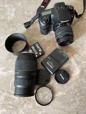 Pentax K K20 D Digital SLR Camera Black Kit w/ 18-55mm  &70-300 Zoom Lens 32GB