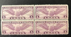 US C12 Block Of 4, 2 MNH & 2 MH