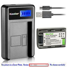 Kastar Battery LCD Charger for Sony NP-FP30 NP-FP50 NP-FP51 BC-TRP BC-TRH BC-TRV