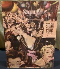 1959 Stork Club Dinner Menu with Albert Dorne Artwork