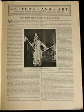 PEKING OPERA 1930 PICTORIAL MEI LANFANG CHINA ACTOR * FAREWELL MY CONCUBINE