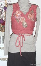 NOA Cruzado Chaqueta Lana Mohair XL 42 CORAL Mood Rosa Nuevo JAKKE
