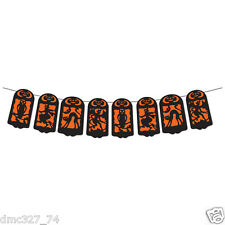Halloween Decoration Retro Silhouette String Banner Vintage Beistle 1928