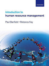 Introduction to Human Resource Management by Rebecca Kay, Paul Banfield (Paperb…