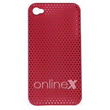 Carcasa iPHONE 4  4S  PERFORADA dura y ligera Color ROJO a569