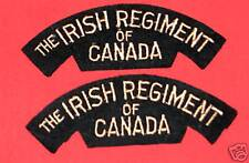 THE IRISH REGIMENT OF CANADA Cloth Shoulder Flashes