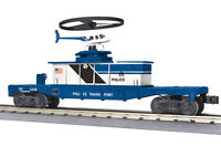 MTH 30-79300 Flat Car w/ Operating Helicopter Police new in the box