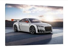 Audi TT Clubsport Turbo - 30x20 Inch Canvas - Framed Picture Print Art