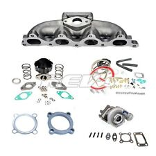 90-93 ACCORD F22 4 CYLINDER .48 T3 TURBO CHARGER CAST MANIFOLD SET UP KIT 300HP