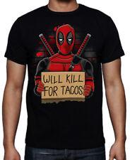 Deadpool Tacos Will Kill For Funny Superhero Mercenary Francis Action T Shirt