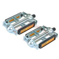 """NEW 616 Steel Bicycle Pedals 1/2"""" Chrome Rat Trap Old BMX MTB Pedal 202690"""