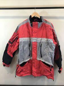 Pure Polaris snowmobile jacket. Size Large Red,Gray,Black