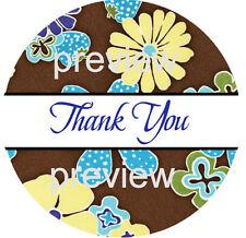 Flower Power Design 5 Thank You Sticker Labels Laser Printed
