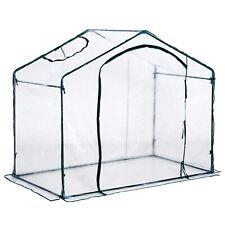 Portable Greenhouse Walk-in W/ Zipper Doors  PVC Cover Steel Frame New UK