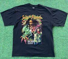 VTG Songs Of Freedom Bob Marley Rap Tee T-Shirt Marijuana Weed Pot Leaf 90s USA