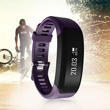 Latest H28 Smart Watch Bracelet Heart Rate Bluetooth Pedometer Fitness Purple DB