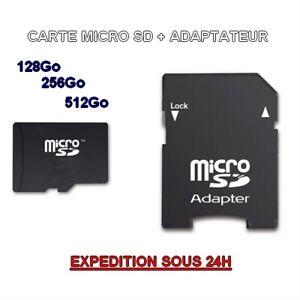 Memory card micro sd hc 512 gb xc 32 64 128 256 gb class 10 + adapter