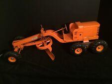 """Vintage 1950's 26"""" Yellow-Orange Doepke Model Toys Adams Diesel Road Grader"""