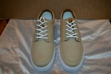Polo Ralph Lauren Vance Side Lace Khaki Canvas Leather Shoes Men's Size: 13D NIB
