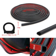 4M D-Type Car Motor Truck Door Rubber Seal Hollow Strip Weatherstrip Sealing DIY
