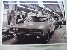 1968 DODGE CHARGER ON ASSEMBLY LINE  #1   11 X 17  PHOTO  PICTURE