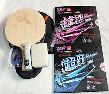 Titanium + Carbon + 729 Faster/Higher Rubbers, Custom-made Table Tennis Bat, Mel