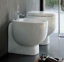 Sanitari bagno filo muro vaso sedile e bidet da appoggio serie 500 Pozzi Ginori