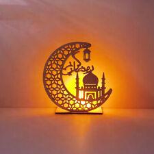 1 x Ramadan Mubarak Eid Dekorationen Holz Mondlicht Ornamente für Home Party