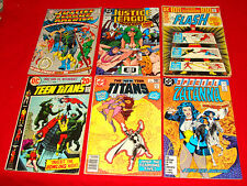 6 Vintage Misc. DC Superhero Comic Books 1967 Justice League 53 Teen Titans &mor