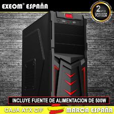 Caja ATX Ordenador Pc Gaming de Sobremesa Torre Devil Rojo USB Frontal C/Fuente