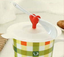 Cartoon-Anti-Staub Silikon Glas Tasse Kaffee-Haferl Saug Deckeldichtung Deckel
