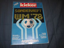 Kicker Sonderheft WM 1978 WM 78 Argentinien