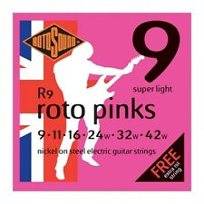 Rotosound Roto Pinks Electric Guitar Strings 9-42 Super Light