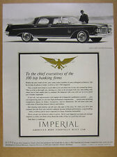 1962 Chrysler Imperial Crown Southampton sedan car photo vintage print Ad