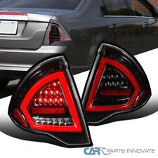 Fit Ford 10-12 Fusion Full LED Pearl Black Tail Lights Rear Brake Lamps Pair