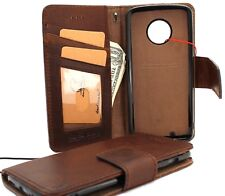 genuine leather Case Motorola Moto G6 book cover magnetic detachable Removable R