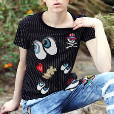 Stylish  Embroidered Sequins Red Lips Angel Wings Clothes Patch DIY T-Shirt Hot