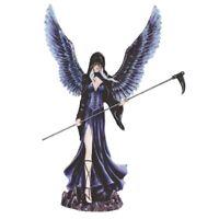 Dark Angel Fairy In Black Figurine  12.25 inch