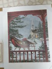 WHITE CHRISTMAS Signed Print  by Ben Richmond... 1996