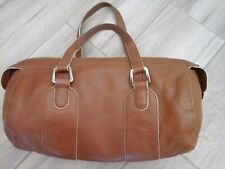 Ann Taylor Cognac Brown Genuine Leather Satchel Handbag  Size 5 1/2x10 1/2x3 1/2