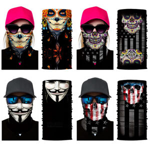 Motorcycle Cycling Bandanas Face Mask Neck Tube Scarf Balaclava Snood Women Men