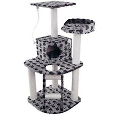 Giant Cat Scratching Poles Post Furniture Tree House Condo Black Grey 120cm