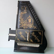 Antique German Wagner Autoharp floral decorated.