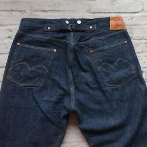 Levis LVC 501 XX Suspenders Buckle Back Selvedge Denim Jeans Made in USA Vtg