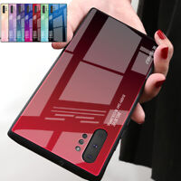 For Samsung Galaxy Note 10 Plus Gradient Tempered Glass Hybrid Back Case Cover