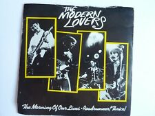 """THE MODERN LOVERS THE MORNING OF OUR LIVES 7"""" SINGLE VG"""