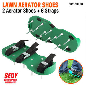 Garden Lawn Aerator Spike Spiked Shoes Seeding Farm Garden Lawn Care Maintenance