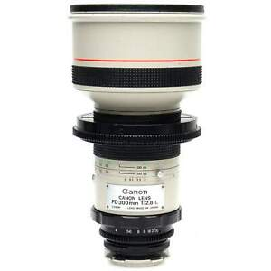 Canon FD 300mm f2.8 L Lens for PL Mount (Modified by Century Precision Optics)